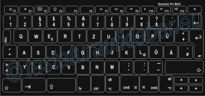 Tastaturaufkleber für Mac-Tastatur, einfach zu kleben, kostengünstig