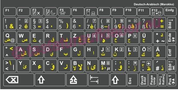 arabische tastaturaufkleber farbe anthrazit