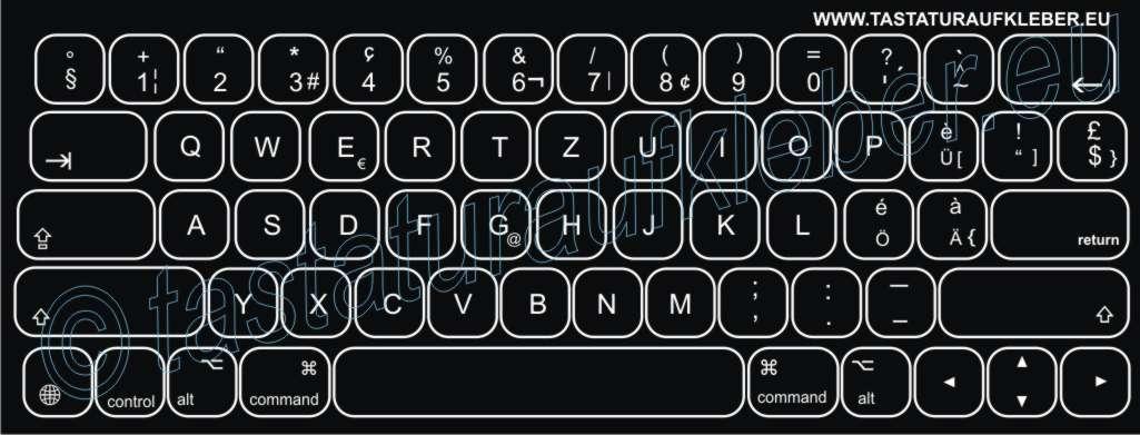 Tastaturaufkleber F 252 R Ipad Smart Pro Keyboard