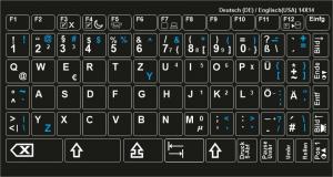 notenaufkleber f r keyboard bis zu 61 tasten tastaturaufkleber f r ihren pc notebook oder webbook. Black Bedroom Furniture Sets. Home Design Ideas