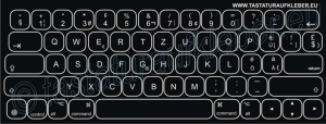 Tastaturaufkleber für Apple iPad Smart Pro Keyboard Layout Swiss-German 12,9 Zoll